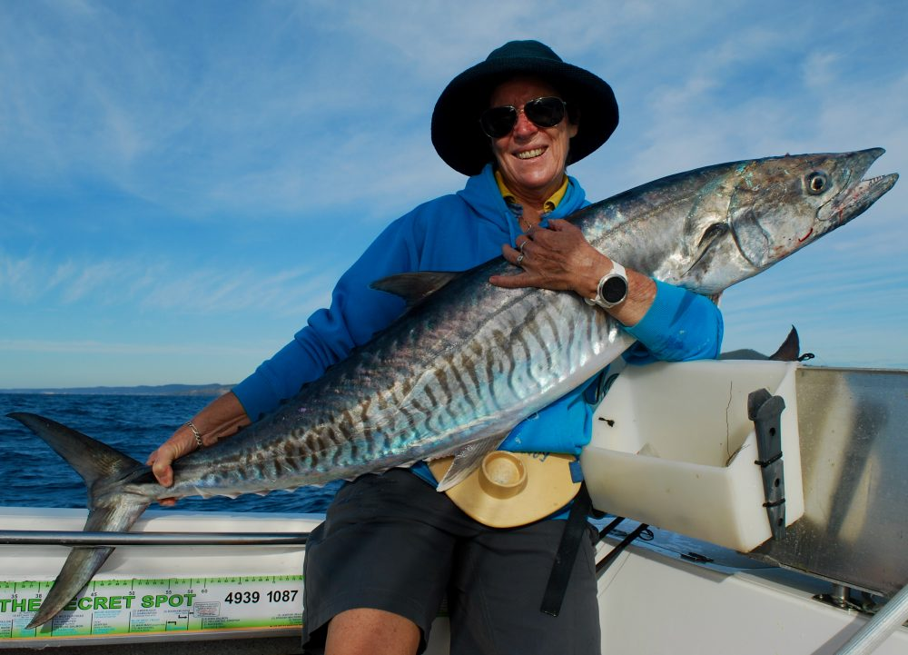 One happy girl with a local area fish of 20kgs.