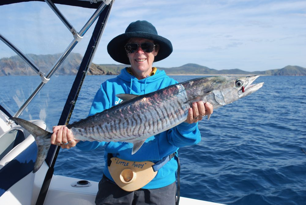 Lorraine with possibly a year two class fish. Spanish mackerel are fecund (capable of producing an abundance of offspring or new growth) and the fry grow quickly to maturity.