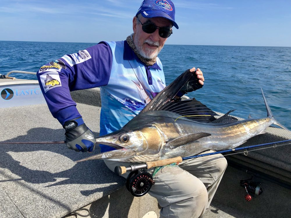 A billfish on fly is definitely a milestone catch! Dave took this lovely sailfish after a fight lasting over an hour in Gulf waters south west of Weipa.