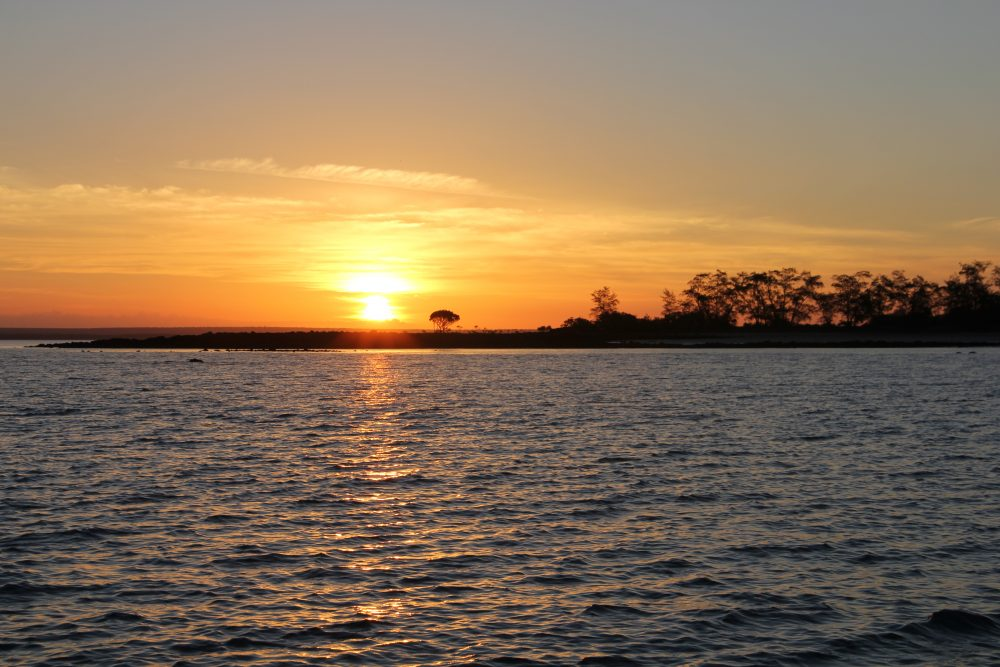 Sunset over the South Peron Island